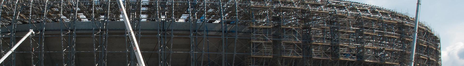 Budowa stalowego rusztowania