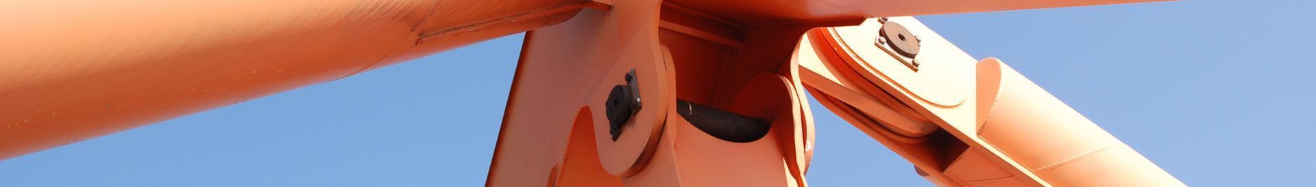 Pomarańczowy stalowy wspornik